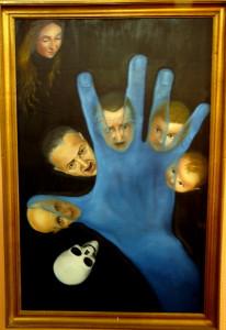 Oleo sobre lienzo de Neira en el Museo de Arte Psicopatológico de Ciempozuelos