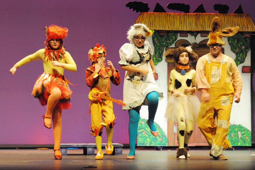 Las Cacatíuas Parlantes en la VI Muestra de Teatro Infantil y Juvenil de la O.N.C.E. (Septiembre 2014)