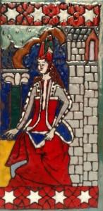 Imagen medieval. Técnica del esmalte (Alumno 12 años).