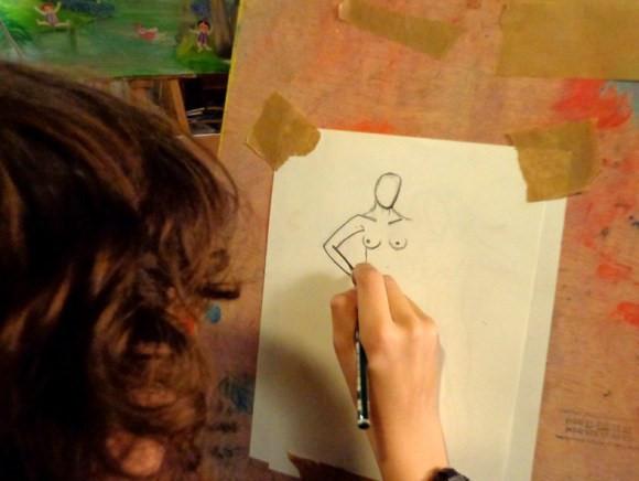 Taller de dibujo al natural de Carmen la Griega (archivo de Carmen la Griega)