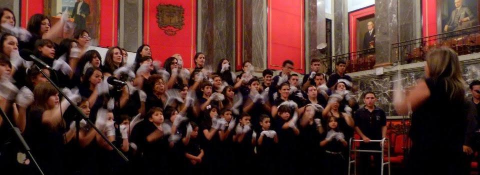 Alumnos del Programa de Educación Especial del Sistema Nacional de Orquestas Juveniles e Infantiles de Venezuela.