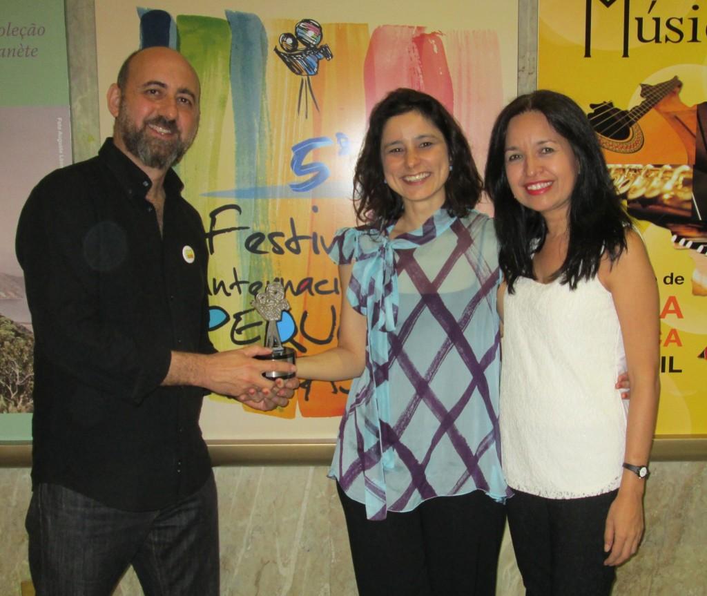 Taller Telekids con Daniela Graciendo (en el medio), directora del festival Pequeño Cineasta (Brasil).