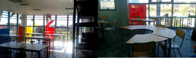 Aula de Arte y aula ordinaria de la Escuela Ideo