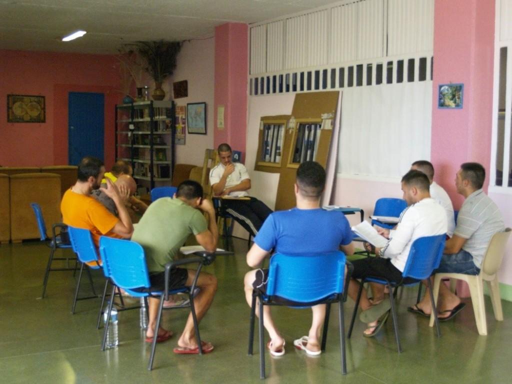 Trabajo del Libreto del grupo de intérpretes. Proyecto LÓVA en la Cárcel de Valdemoro