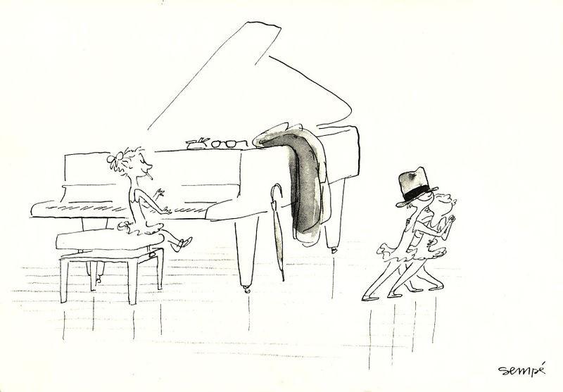 Ilustración de Les Musiciens (Sempé)