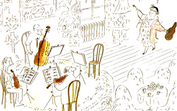 Ilustración de Les Musiciens (de Sempé)