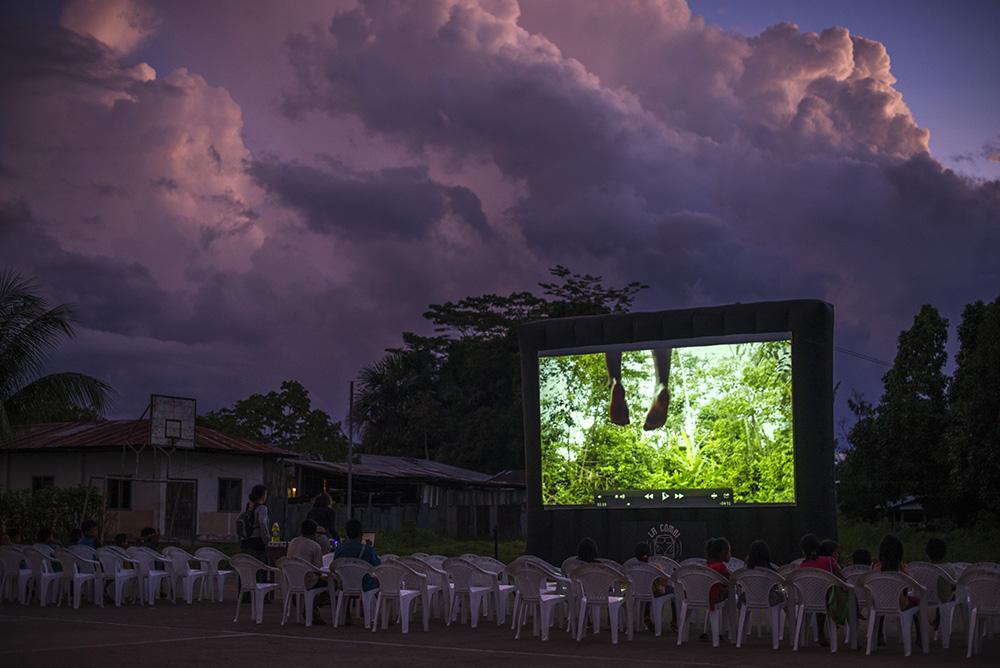 Proyección de cine al aire libre organizada por La Combi – Arte Rodante (Fuente: La Combi)