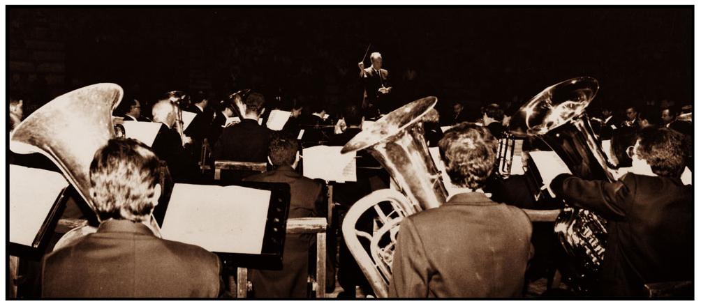 La Filarmónica Beethoven bajo la dirección de Rafael Calonge (Campo de Criptana, 1930)