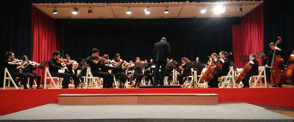 Alumnos del Conservatorio de Música de Alcázar de San Juan Campo de Criptana (2016).