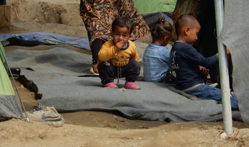 Los niños en el campo de refugiados de Idomeni, Grecia. Abril 2016 (Fotografía de Alicia Barba Guillén)