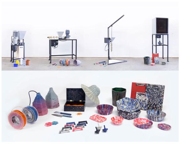 Las máquinas del proyecto Precious Plastic que te llevarán a crear estos objetos (Fuente: Precious Plastic)